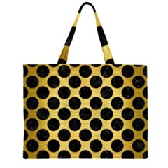 CIR2 BK MARBLE GOLD (R) Large Tote Bag