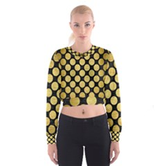 CIR2 BK MARBLE GOLD Women s Cropped Sweatshirt