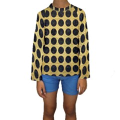 CIR1 BK MARBLE GOLD (R) Kid s Long Sleeve Swimwear