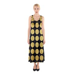 CIR1 BK MARBLE GOLD Full Print Maxi Dress