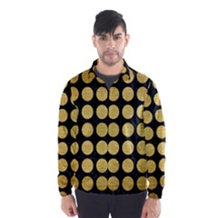 Circles1 Black Marble & Gold Brushed Metal Wind Breaker (men)