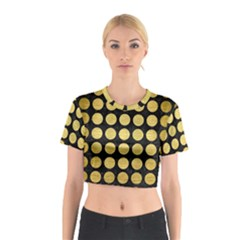 CIR1 BK MARBLE GOLD Cotton Crop Top