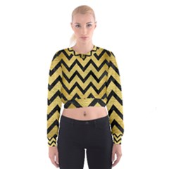 CHV9 BK MARBLE GOLD (R) Women s Cropped Sweatshirt