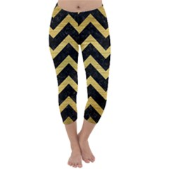 CHV9 BK MARBLE GOLD Capri Winter Leggings