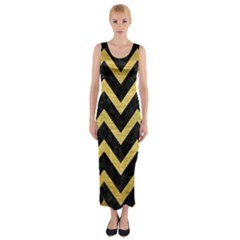 CHV9 BK MARBLE GOLD Fitted Maxi Dress