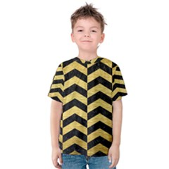 CHV2 BK MARBLE GOLD Kid s Cotton Tee