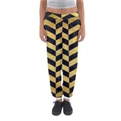 CHV2 BK MARBLE GOLD Women s Jogger Sweatpants