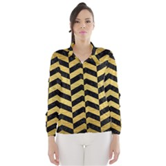 CHV2 BK MARBLE GOLD Wind Breaker (Women)