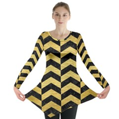 CHV2 BK MARBLE GOLD Long Sleeve Tunic