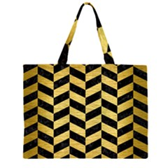 CHV1 BK MARBLE GOLD Large Tote Bag