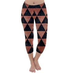 TRI3 BK MARBLE COPPER Capri Winter Leggings