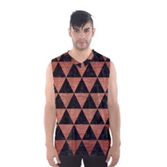 Triangle3 Black Marble & Copper Brushed Metal Men s Basketball Tank Top