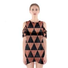 TRI3 BK MARBLE COPPER Cutout Shoulder Dress
