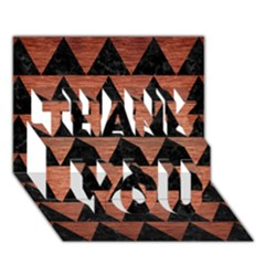 Triangle2 Black Marble & Copper Brushed Metal Thank You 3d Greeting Card (7x5)