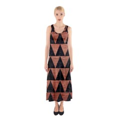 TRI2 BK MARBLE COPPER Full Print Maxi Dress