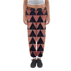 Triangle2 Black Marble & Copper Brushed Metal Women s Jogger Sweatpants