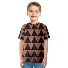 Triangle2 Black Marble & Copper Brushed Metal Kids  Sport Mesh Tee