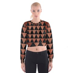 TRI2 BK MARBLE COPPER Women s Cropped Sweatshirt