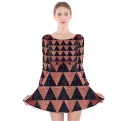 TRI2 BK MARBLE COPPER Long Sleeve Velvet Skater Dress