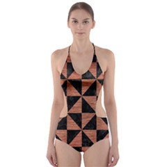 TRI1 BK MARBLE COPPER Cut-Out One Piece Swimsuit