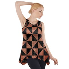 Triangle1 Black Marble & Copper Brushed Metal Side Drop Tank Tunic
