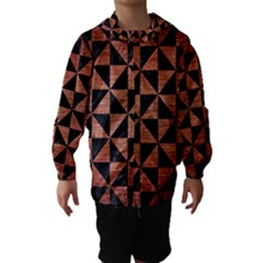 TRI1 BK MARBLE COPPER Hooded Wind Breaker (Kids)