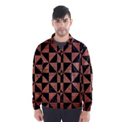 Triangle1 Black Marble & Copper Brushed Metal Wind Breaker (men)