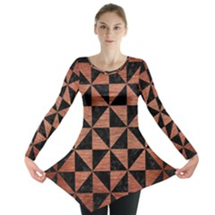 TRI1 BK MARBLE COPPER Long Sleeve Tunic