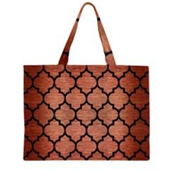 TIL1 BK MARBLE COPPER (R) Large Tote Bag