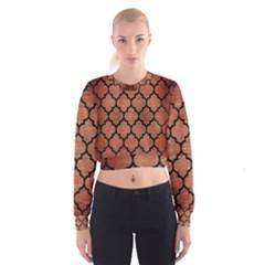 TIL1 BK MARBLE COPPER (R) Women s Cropped Sweatshirt