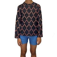TIL1 BK MARBLE COPPER Kid s Long Sleeve Swimwear