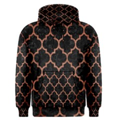 Tile1 Black Marble & Copper Brushed Metal Men s Pullover Hoodie