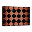 SQUARE2 BLACK MARBLE & COPPER BRUSHED METAL Canvas 18  x 12  (Stretched) View1