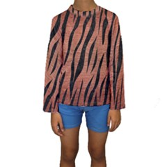 SKN3 BK MARBLE COPPER (R) Kid s Long Sleeve Swimwear