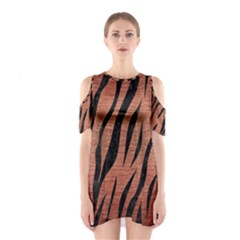 SKN3 BK MARBLE COPPER (R) Cutout Shoulder Dress