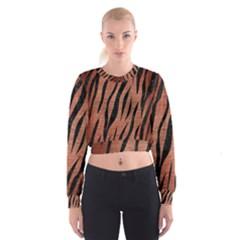 SKN3 BK MARBLE COPPER (R) Women s Cropped Sweatshirt
