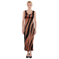 SKN3 BK MARBLE COPPER (R) Fitted Maxi Dress
