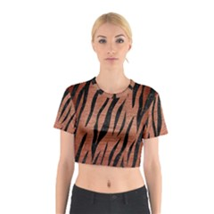 SKN3 BK MARBLE COPPER (R) Cotton Crop Top