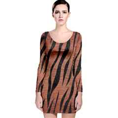 SKN3 BK MARBLE COPPER (R) Long Sleeve Velvet Bodycon Dress