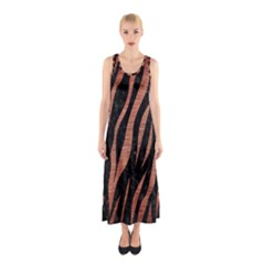 Skin3 Black Marble & Copper Brushed Metal Sleeveless Maxi Dress