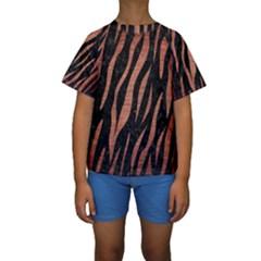 SKN3 BK MARBLE COPPER Kid s Short Sleeve Swimwear