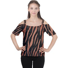 SKN3 BK MARBLE COPPER Women s Cutout Shoulder Tee