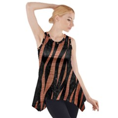 Skin3 Black Marble & Copper Brushed Metal Side Drop Tank Tunic