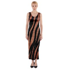 SKN3 BK MARBLE COPPER Fitted Maxi Dress