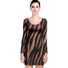 SKN3 BK MARBLE COPPER Long Sleeve Velvet Bodycon Dress
