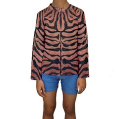 Skin2 Black Marble & Copper Brushed Metal (r) Kids  Long Sleeve Swimwear