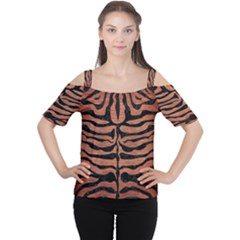 SKN2 BK MARBLE COPPER (R) Women s Cutout Shoulder Tee