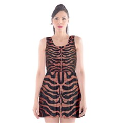 SKN2 BK MARBLE COPPER Scoop Neck Skater Dress
