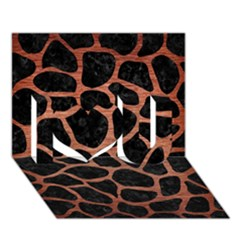 Skin1 Black Marble & Copper Brushed Metal (r) I Love You 3d Greeting Card (7x5)