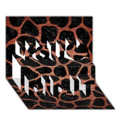 Skin1 Black Marble & Copper Brushed Metal (r) You Did It 3d Greeting Card (7x5)